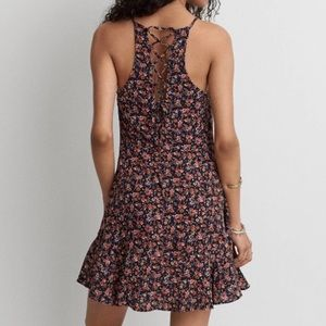 American Eagle Lace Back Fit Flare Dress
